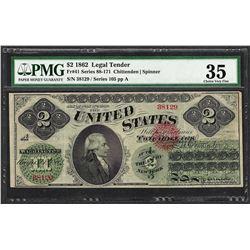 1862 $2 Legal Tender Note Fr.41 PMG Choice Very Fine 35