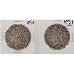 1884-O & 1888 $1 Morgan Silver Dollar Coins