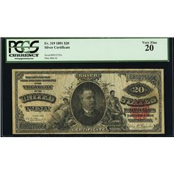 1891 $1 Silver Certificate Note Fr.319 PCGS Very Fine 20