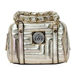 Versace Gold Quilted Leather Mini Bag