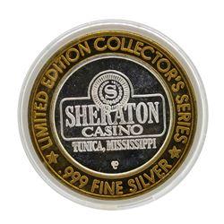 .999 Silver Sheraton Casino Tunica, Mississippi $10 Limited Edition Gaming Token