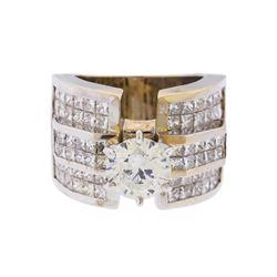 18KT White Gold 5.63 ctw Diamond Engagement Ring