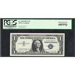 1957A $1 Silver Certificate Note PCGS Superb Gem New 68PPQ