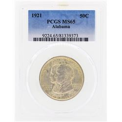 1921 Alabama Commemorative Half Dollar Coin PCGS MS65