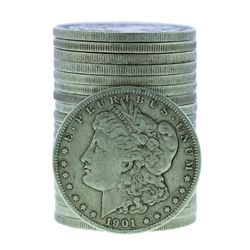 Roll of (20) 1901-O $1 Morgan Silver Dollar Coins