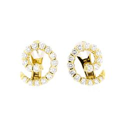 18KT Yellow Gold 2.00 ctw Diamond Earrings