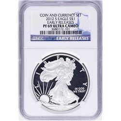 2012-S $1 American Silver Eagle Proof Coin NGC PF69 Ultra Cameo Early Releases