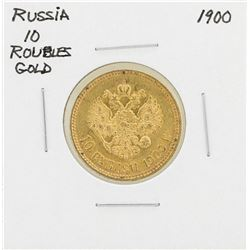 1900 Russia 10 Roubles Gold Coin