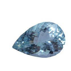6.3 C 16.1x10.6 Mm Natural Light Blue Aquamarine Pear Cut