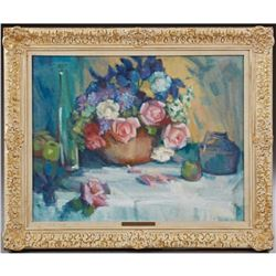 "Barbara Taylor Roy, ""Still Life Of A Table Top"""