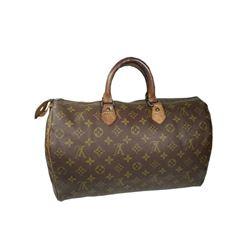 Auth Louis Vuitton Vintage Handbag Speedy 35 Monogram Canvas Before 1980s