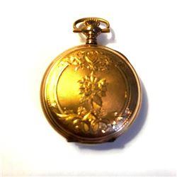 19thc Ornate Gold Filled J Boss Keystone Pocket Watch Case