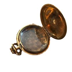 Late 19thc Gold Ornate Victorian Pocket Watch Case