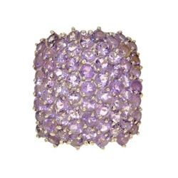 12.5gm. Amethyst And Sterling Silver Ring