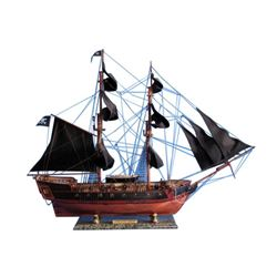 """Wooden Caribbean Pirate Ship Model Limited 36"""" - Black Sails"""