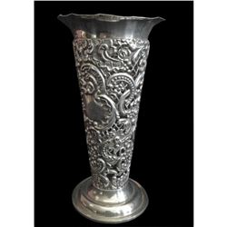 Late Victorian Silver Bud Vase by William Comyns