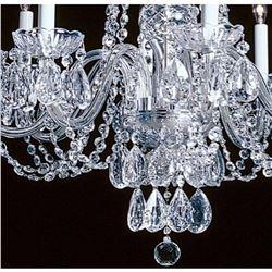 Elegant Crystal & Nickel 8 Light Chandelier