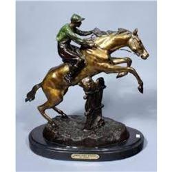 Jumping Horse With Jockey By Bofill