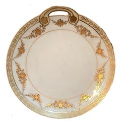 Antique Japanese Nippon Gold Handled Dish