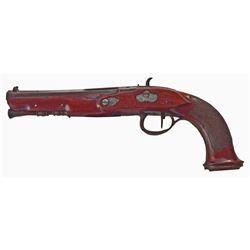 c1830 Continental Single Shot Percussion Pistol