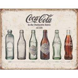 Coke Bottle Evolution Tin Sign