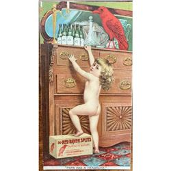 Early 20th Century Advertising, Red Raven Splits Postcard