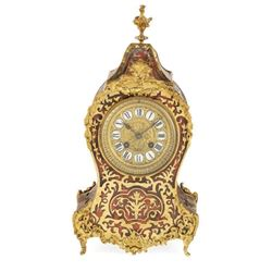 Y French Louis Xv Style Boulle Mantel Clock 19th Century 37cm High.