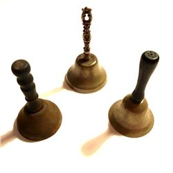 Set of Antique Butler Servants Call Hand Bells