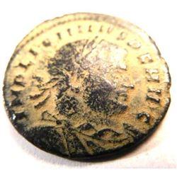 Ancient Bronze Radiate of Emperor Licinius I (308-324 A.D.)