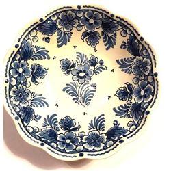 Vintage Signed Delft Pottery Bowl