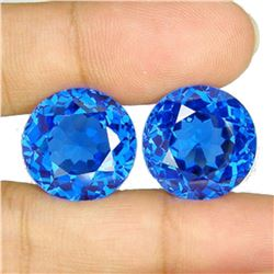 26.70 Ct Matching Round Cut London Blue Topaz