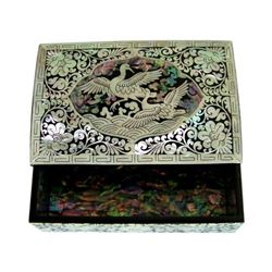 Mother Of Pearl Inlaid Box_ Lacquer Ware Inlaid Business Card Case