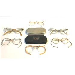 Collection of Early to Mid 20th Century Eyeglasses Spectacles