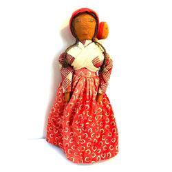 Vintage Handmade Cherokee Indian Cloth Doll