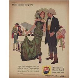 1960 Pepsi Cola Movie Costume Magazine Ad