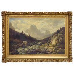 Horst Hacker (1842-1906) Gerrman Alps & Figures