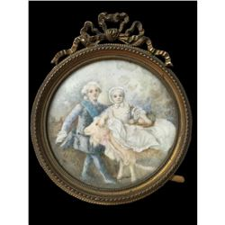 18th Century Miniature Porcelain Painting