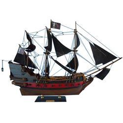 """Blackbeard's Queen Anne's Revenge Model Pirate Ship Limited 24"""""""