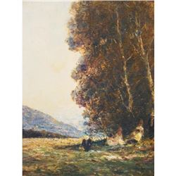 After Otto Strutzel, 20thc Landscape Oil Painting