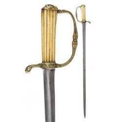 18thc European Embossed Mask Hunting Sword