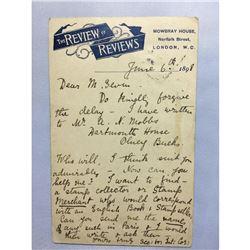 1898 London Original Postmarked Handwritten Post Card
