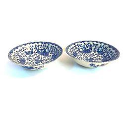 Vintage Pair, Japanese Phoenix Flying Turkey Bowls