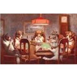 7 Dogs PLaying Poker
