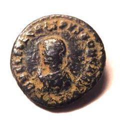 Bronze coin of Crispus (313-326 A.D.)