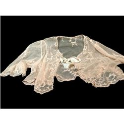 Late 19thc Ladies Delicate Floral Lace Bed Jacket