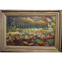 Thomas La Farge; Oil Painting Signed