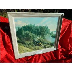 """FRAMED PICTURE - CN - """"SUPERCONTINENTAL IN THE CANADIAN ROKIES"""""""