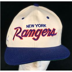 Spin City (1996–2002) - New York Rangers White Hockey Cap