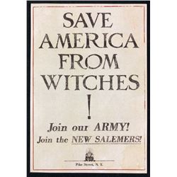 "Fantastic Beasts and Where to Find Them (2016) - ""Save America From Witches!"" Flyer (Small)"