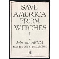 "Fantastic Beasts and Where to Find Them (2016) - ""Save America From Witches!"" Flyer (Large)"